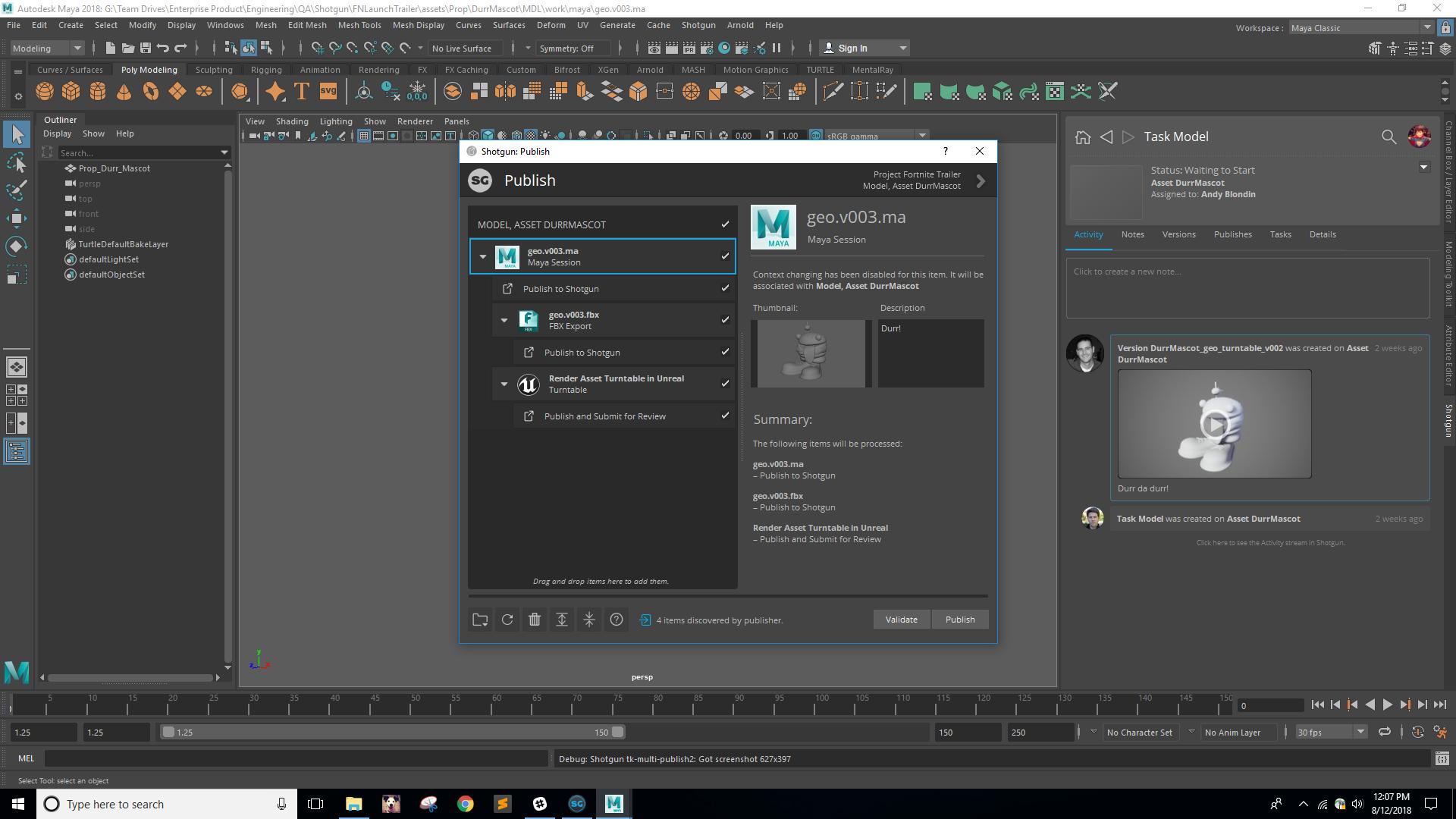 Shotgun Software | Blog | Unreal Engine Integration